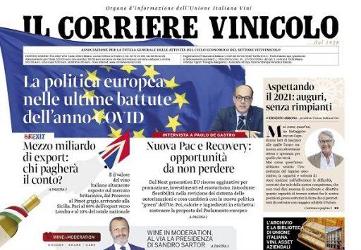 Il Corriere Vinicolo magazine in edicola